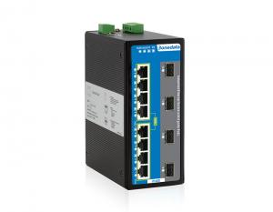 China Industrial Managed 8 Port Poe Switch , Gigabit Poe Switch With 4 Gigabit SFP Ports on sale