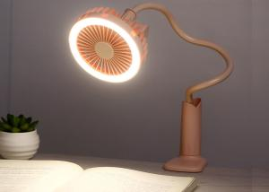 China led table lamp with mini clip fan / usb portable rechargeable fan with lamp on sale