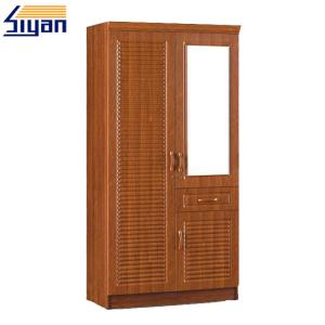 China Bedroom Furniture Shutter Style Wardrobe Doors PVC Surface OEM ODM Service on sale