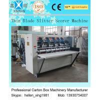 Corrugated Vertical Cutting Paper Slitting Carton Machine For Pressing / Folding
