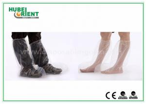 China Plastic Disposable Shoe Cover Outdoor / Waterproof Rain Boot Cover For Hospital on sale