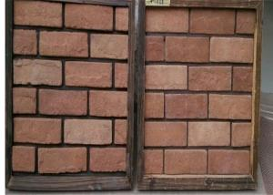 China Customized Exterior Faux Brick Panels , Thin Brick Veneer For Fireplace / TV Walls Decration on sale