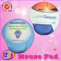 China Promotional mouse pad with gel wrist rest for advisement on sale