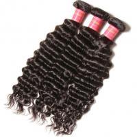 100% Virgin Brazilian Deep Wave Human Hair Extensions Smooth Feeling Natural Black