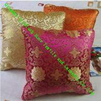 Square Quilted Silk Throw Pillows , Soft Chinese Style Knitted Sofa Cushions