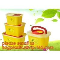 BIOHAZARD WASTE CONTAINERS, PLASTIC STORAGE BOX, MEDICAL TOOL BOX, SHARP CONTAINER, SAFETY BOX, Disposable Hospital Bioh