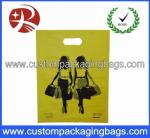 Custom Design Po Yellow Die Cut Handle Plastic Bags 100 Micron For Lady