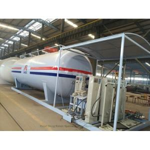 China Customized 50m3 LPG Skid Station With Automobile LPG Gas Dispenser ASME Certificate on sale