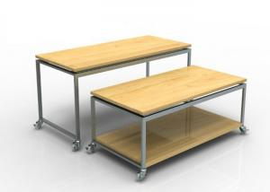Quality Recyclable Display Nesting Tables Wooden , Mobile Space Saving Boutique Display for sale