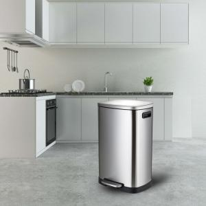 China Smudge Proof 50L Stainless Steel Trash Bin on sale