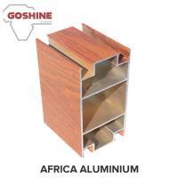 Red Wood Finish Aluminium Profiles High Coating Hardness And Strong Adhesion