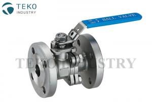 China Stainless Steel Flanged Ball Valve , 2PC Two Piece Ball Valve With PTFE Seat on sale