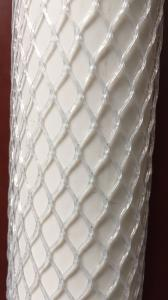 China Mesh Net Protective Plastic Mesh Sleeve , Transparent Protective Netting for Metal on sale