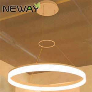 China Modern Led Rings Crystal Shade Chandelier Pendant Modern led hanging lighting fixture adjustable round chandelier on sale