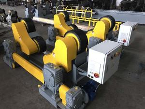 China 20T Wind Tower And Oil Pipe Welding Rollers , Yellow Color Welding Pipe Stands on sale