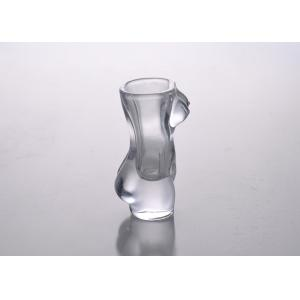 Quality 1 Oz Crystal Wine Drinking Shot Glass Body Shaped Customizable for sale