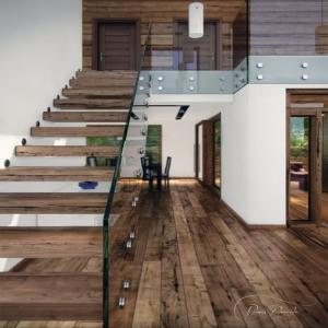 Quality Floating Steel Wood Staircase Indoor Stairs For Sale