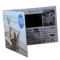 Homemade LCD Video Brochure Card , 128MB-8GB LCD Christmas Card With Magnet Switch