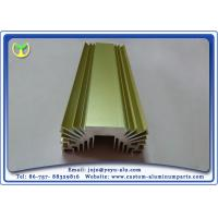 China Golden Anodized Extruded Aluminum Profile Radiators / Heat Sink 6063- T5 on sale