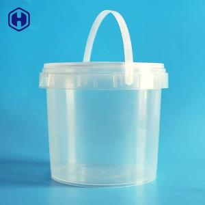 China Plastic PP  Clear Food Grade Bucket Strong Waterproof Heat Resistant on sale