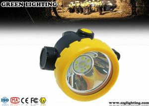 China Mining Cordless Cap Lamp Rechargeable Battery Powered With Main And Sub Light on sale