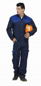 China Safety Industrial Work Uniforms Navy / Royal Blue Two Colors With Reflective Piping on sale