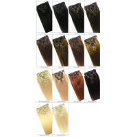 Clip in Human Hair Straight Wavy Clip in Hair Extensions for Black Women