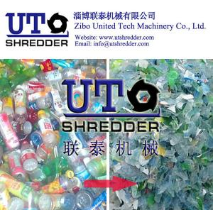 China high efficiency PET bottle recycling machine, bottle recycling, Plastic Bottle Shredder machines, twin shaft shredder on sale