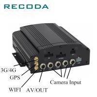 1080P 4CH AHD Input Car DVR Video Recorder , Vehicle DVR System HDD/SD 4G/WIFI/GPS