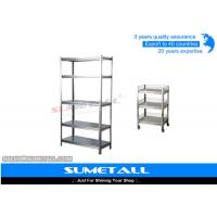 China Boltless Rivet Stainless Steel Storage Racks 5 Shelf Wire Rack For Garage Storage on sale