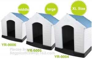 China Outdoor Large Plastic Dog House For Large Breed Dog, Plastic Dog Transport House & Box & Cage, Fashion big dog apartment on sale