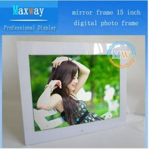 China Mirror frame 15 inch digital photo frame with usb driver on sale