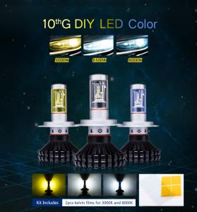 China Topcity LED lights new design 2ndG Z-ES DIY COLOR 9005 9006 H10 LED Headlights on sale