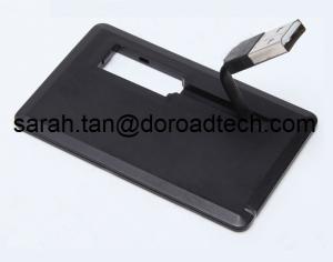 China Memoria USB de la tarjeta de visita con el cable de datos, palillo plástico de la tarjeta de crédito USB con el cable on sale