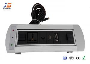 Motorized Flip Up Conference Table Connection Box MIC VGA HDMI FR - Conference table connection box