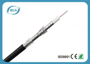 China Tri Shield Digital Flexible Coaxial Cable For TV Foam Polyethylene Insulation on sale