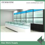 China Mobile phone shop interior design glass display showcase store furniture wholesale