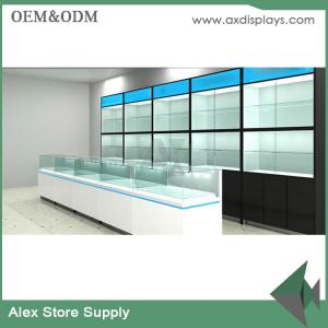 Mobile counter design phone display showcase design shop decoration ...