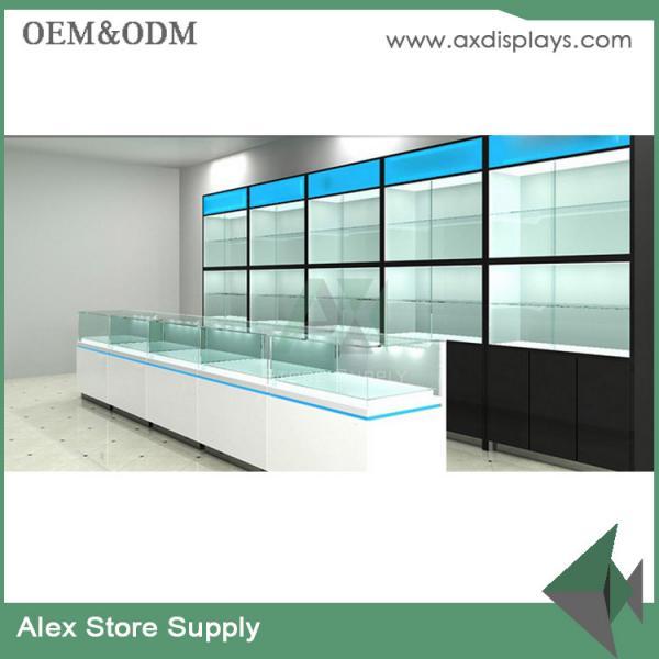 Mobile counter design phone display showcase design shop for Mobel onlineshop design