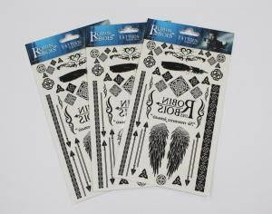 China Head card packaging for temporary tattoo on sale