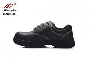 China Cow Split Leather Waterproof Steel Toe Shoes , Injection Black Work Trainers Mens on sale