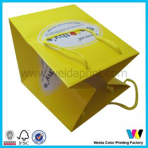China Personalized Luxury Paper Shopping Bags , Large Folded Shopping Bag on sale
