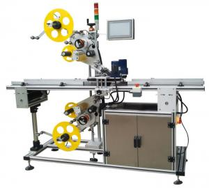 China Top And Bottom Surface Automatic Labeling Machine Automatic Sticker Labeling Applicator on sale