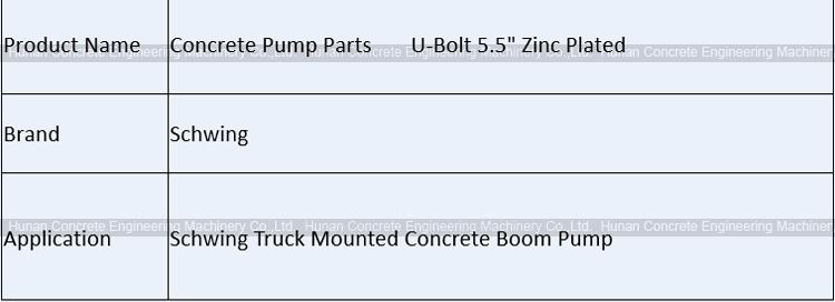 Concrete Pump Spare Parts Schwing U-Bolt 5 5
