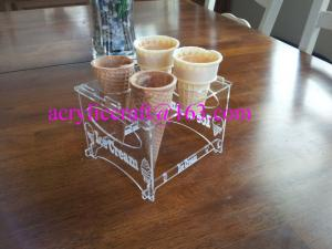 China 4 slot Ice Cream Cone Transparent Acrylic Display Rack Made In China on sale