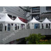 White Square 5X5 M High Peak Tents Booth , High Peak pagoda event Marquees Eco Friendly