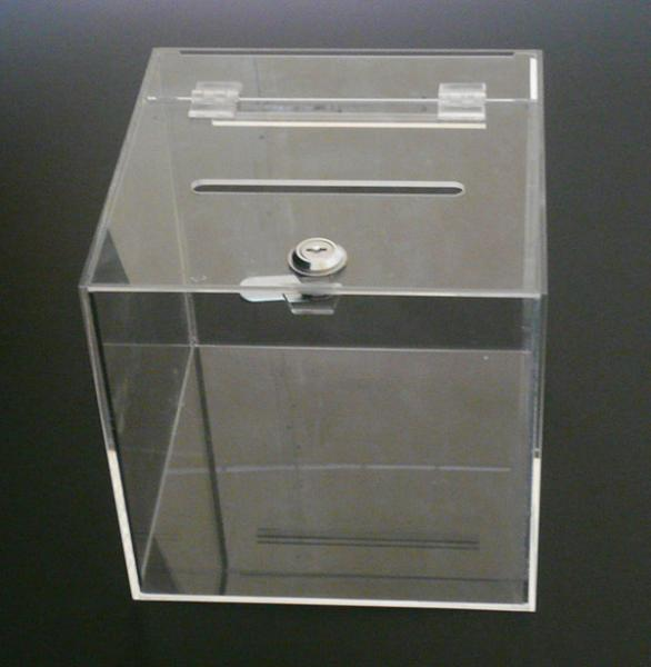 f57be378288 Clear Acrylic plastic donation  collection charity box with sign holder and  lock Images