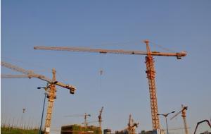 China Potain Tower Crane QTZ63 / Luffing Crane TC5013 TC5510 with Double Ratio 3 and Quadruple Ratio 6 on sale