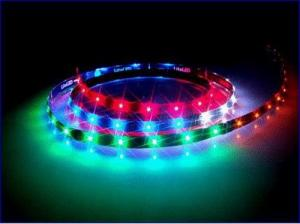 China Waterproof SMD 5050 5M rgb color changing led strip lighting 12v with remote control on sale