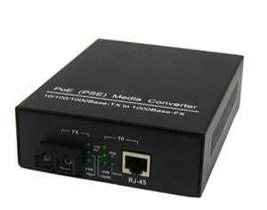 China Black Iron Gigabit Ethernet Poe Media Converter Multimode / Singlemode on sale